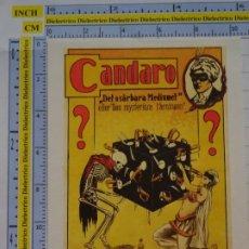 Postales: POSTAL DE CIRCO. CARTEL RETRO VINTAGE 1925 ILUSIONISTA CANDARO 1094. Lote 222500921