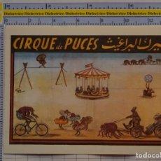 Postales: POSTAL DE CIRCO. CARTEL RETRO VINTAGE 1925. CIRCO DE PULGAS 1096. Lote 222500982