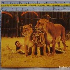 Postales: POSTAL DE CIRCO. ADIESTRADORA DE TIGRES LEONES. ANTIGUA DDR. 1110. Lote 222501810