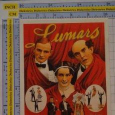 Postales: POSTAL DE CIRCO. CARTEL RETRO VINTAGE 1920 LUMARS ACRÓBATAS. 1116. Lote 222502201