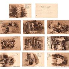 Postales: DON JUAN TENORIO. 10 POSTALES COLECCIÓN COMPLETA. MANUEL P.DELGADO. SERIE I.. Lote 225201986