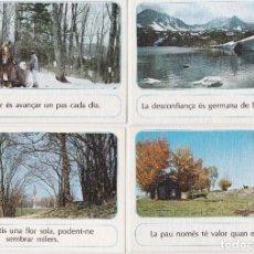 Postales: LOTE 12 POSTALES CON FRASE/MENSAJE – ESCUDO DE ORO - SIN CIRCULAR. Lote 227561035