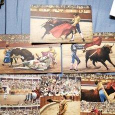 Postales: LOTE SERIE DE TOROS OCHO POSTALES ANTIGUAS SIN CIRCULAR. Lote 228319415