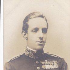 Postales: MONARQUIA EL REY ALFONSO XIII. POSTAL FOTOGRAFICA, FOTO FRANZEN MADRID. CIRCULADA EN 1905. Lote 228499978