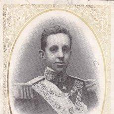 Postales: MONARQUIA. EL REY ALFONSO XIII. POSTAL FRANCESA CIRCULADA EN 1905. Lote 228500840