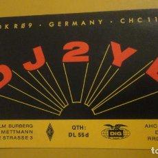 Postales: VINTAGE AMATEUR RADIO CARD.DIETHELM BURBERG.METTMANN.BREITE STRASSE 3. GERMANY. 1977. DJ2YE. Lote 231257940