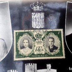 Postales: BODA DE MONACO - POSTAL Y SELLO - 1956 - GRACE KELLY. Lote 232830085