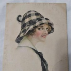 Postales: POSTAL MODERNISTA MANUSCRITA (1917). Lote 233954615