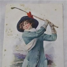 Postales: POSTAL MODERNISTA MANUSCRITA (1917). Lote 233955075