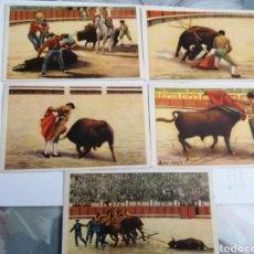 Postales: LOTE POSTALES TAUROMAQUIA CON CUÑOS ESPECIALES. Lote 234935345