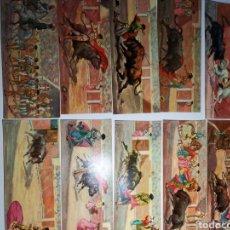 Postales: 20 TARJETAS POSTALES, DE CORRIDAS DE TOROS VISIONSCOPE GRAN TAMAÑO. Lote 238609535