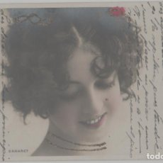 Postales: LOTE W-POSTAL CINE ACTRIZ SAHARET AÑOS 1900-10 MATA SELLOS PURPURINA. Lote 240818970