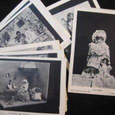 Postales: COLECCION DE 13 POSTALES DE MUÑECAS-EXPOSICION ARTISTICA 1905-REVERSO SIN DIVIDIR-VER FOTOS-(77.558). Lote 241114140