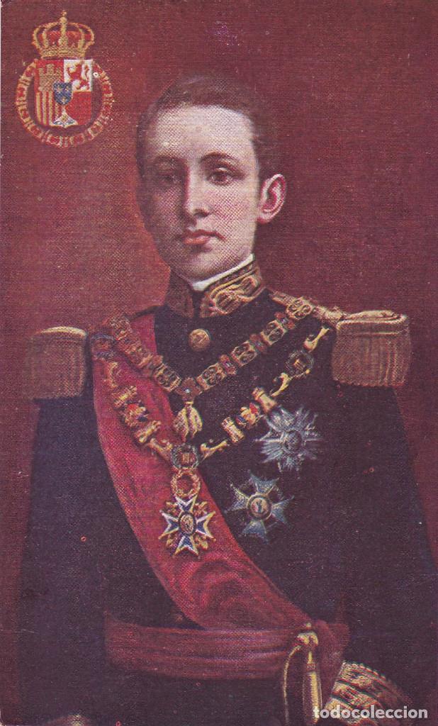 MONARQUIA. ALFONSO XIII. POSTAL FRANCESA SIN CIRCULAR (Postales - Postales Temáticas - Especiales)