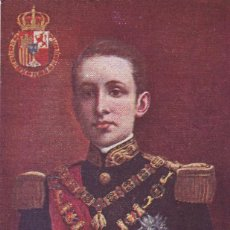 Postales: MONARQUIA. ALFONSO XIII. POSTAL FRANCESA SIN CIRCULAR. Lote 243450930
