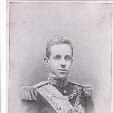 Postales: MONARQUIA. ALFONSO XIII. REY DE ESPAÑA . POSTAL FRANCESA SIN CIRCULAR. REVERSO SIN DIVIDIR. Lote 243452690