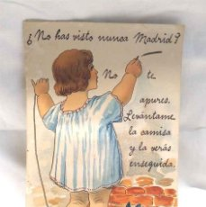 Postales: NO HAS VISTO NUNCA MADRID ? LEVANTAME LA CAMISA DESPLEGABLE CON FOTOS AÑOS 20, CIRCULADA. Lote 243912685