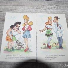 Postales: POSTALES CON CHISTES AÑOS 60.. Lote 243923990