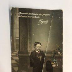 Postales: PAQUITO. POSTAL FOTOGRÁFICA. RECUERDO DEL HOMBRE MÁS PEQUEÑO DEL MUNDO, E. R. MADRID (A.1917). Lote 244421235