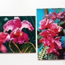 Postales: POSTALES 3D - TOPPAN Y KOWA - FLORES - 2 UNIDADES. Lote 246063665