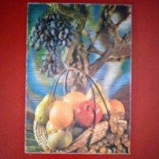 Cartoline: POSTAL TRIDIMENSIONAL, EFECTO 3D. BODEGÓN / FRUTAS. POSTALES ESCUDO DE ORO R-12.. Lote 253230915
