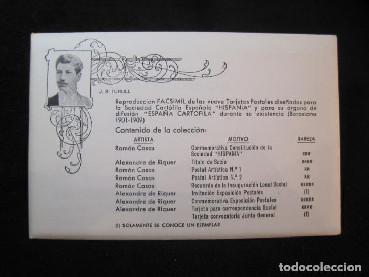 Postales: SOCIEDAD CARTOFILA HISPANIA-RAMON CASAS-RIQUER-BLOC CON 9 POSTALES REPRODUCCION-(K-2174) - Foto 2 - 253557995