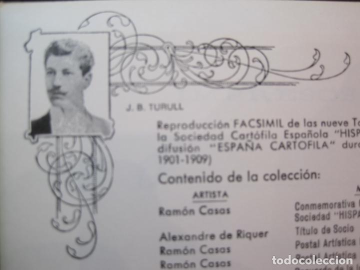 Postales: SOCIEDAD CARTOFILA HISPANIA-RAMON CASAS-RIQUER-BLOC CON 9 POSTALES REPRODUCCION-(K-2174) - Foto 3 - 253557995