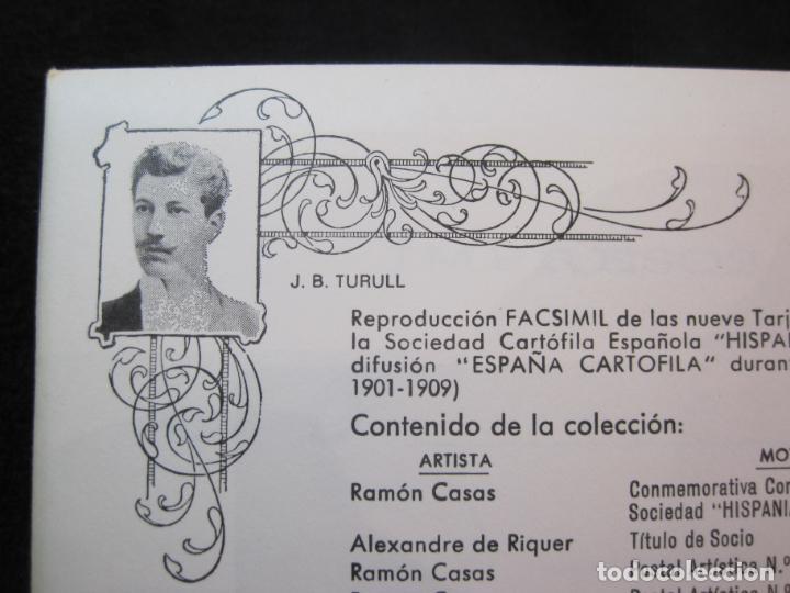 Postales: SOCIEDAD CARTOFILA HISPANIA-RAMON CASAS-RIQUER-BLOC CON 9 POSTALES REPRODUCCION-(K-2174) - Foto 4 - 253557995