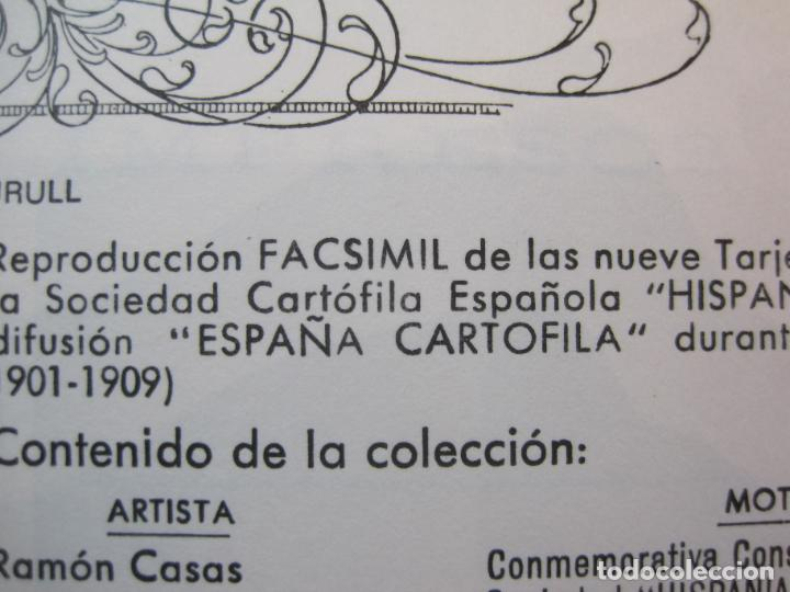 Postales: SOCIEDAD CARTOFILA HISPANIA-RAMON CASAS-RIQUER-BLOC CON 9 POSTALES REPRODUCCION-(K-2174) - Foto 5 - 253557995