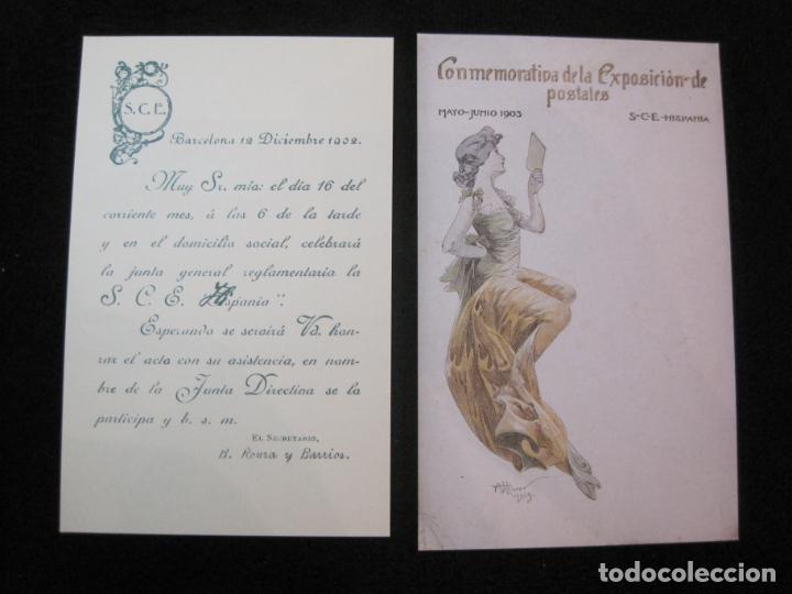 Postales: SOCIEDAD CARTOFILA HISPANIA-RAMON CASAS-RIQUER-BLOC CON 9 POSTALES REPRODUCCION-(K-2174) - Foto 12 - 253557995