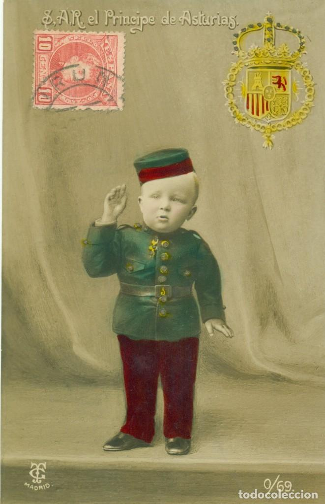 ALFONSO PRINCIPE DE ASTURIAS. CIRCULADA EN 1906 (Postales - Postales Temáticas - Especiales)
