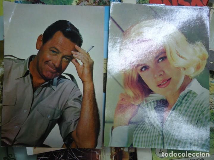 LOTE DE 2 POSTALES DE SANDRA DEE YLA OTRA DE WILLIAM HOLDEN MIDEN 15 X 10 CM. SON RARAS EN BUEN EST (Postales - Postales Temáticas - Especiales)