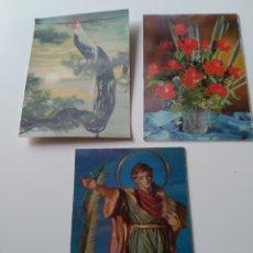 Postales: LOTE 3 POSTALES TRIDIMENSIONALES 3D. AÑOS 70.. Lote 257303810