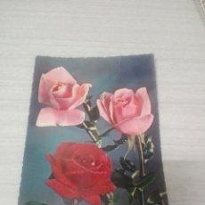 Postales: POSTAL DE FLORES ROSAS. Lote 257321695