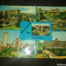 Postales: TARJETA POSTAL MADRID, SALONES ARISOL CON MENÚ NUPCIAL, 1978. Lote 261307020