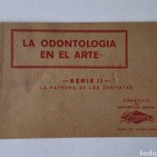 Postales: LA ODONTOLOGIA EN EL ARTE / SERIE II / LA PATRONA DE LOS DENTISTAS / 5 POSTALES / OBSEQUIO DONNER. Lote 262199560