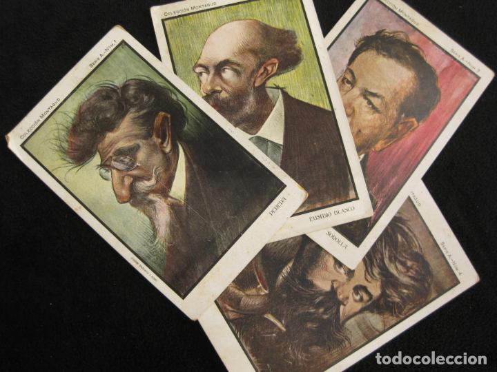 COLECCION MONTAGUD-PEREDA-SOROLLA-RUSIÑOL-EUSEBIO BLASCO-SERIE A-COL·4 POSTALES-VER FOTOS-(80.447) (Postales - Postales Temáticas - Especiales)