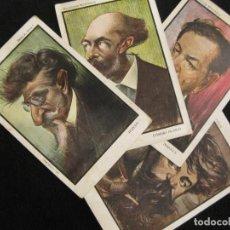 Postales: COLECCION MONTAGUD-PEREDA-SOROLLA-RUSIÑOL-EUSEBIO BLASCO-SERIE A-COL·4 POSTALES-VER FOTOS-(80.447). Lote 262302525