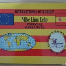 Postales: INTERNACIONAL DX GROUP CATALUNYA. Lote 262924655