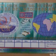 Postales: QSL DX SWAP CLUB MEDITERRÁNEO. Lote 262928025