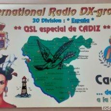 Postales: INTERNACIONAL DX GROUP CÁDIZ. Lote 262928485
