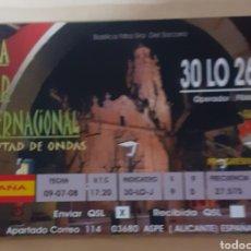 Postales: LIMA ÓSCAR INTERNACIONAL ALICANTE. Lote 262931045