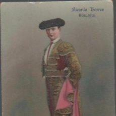 Postales: TAUROMAQUIA. RICARDO TORRES, BOMBITA.. Lote 263029660