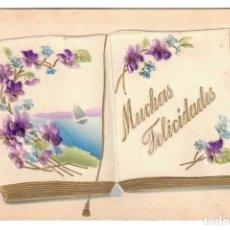 Postales: TARJETA DE BUENOS AUGURIOS - CIRCULADA - CON VENTANA. Lote 265856334