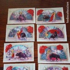 Postales: 8 POSTALES CON BORDADO Y TELA.. Lote 268950469