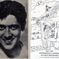Cartes Postales: DOS TARJETAS ESPECIALES=FOTO DE MOJICA Y CENTENARIO DEL NACIMIENTO DE PICASSO-LEER DESCRIPCION .. Lote 269191798