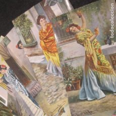 Postales: COLECCION DE 9 POSTALES ANTIGUAS DE MUJERES-VER FOTOS-(81.908). Lote 270637338