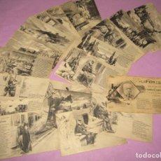 Postales: ANTIGUAS 20 POSTALES SERIE I Y II EL TREN EXPRESO POEMA EN TRES CANTOS D. RAMÓN DE CAMPOAMOR 1904. Lote 275910708