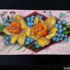 Postales: ANTIGUA TARJETA POSTAL PURPURINA INTERIOR RELIEVE TROQUELADO POP UP AÑOS 60 DÍA DE LA MADRE. Lote 277261008
