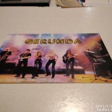 Postales: TARJETA GERUNDA GRUPO MUSICAL. Lote 277852428
